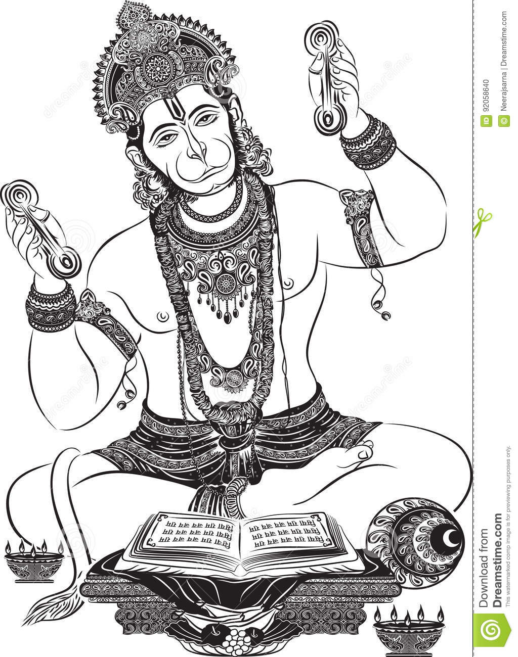 Hanuman clipart free download clip black and white stock 88+ Hanuman Clipart | ClipartLook clip black and white stock