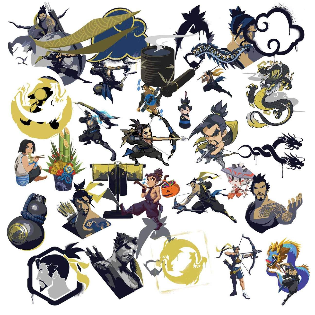 Hanzo clipart royalty free stock Overwatch Hanzo Clipart in 2019 | Overwatch Clipart | Overwatch ... royalty free stock
