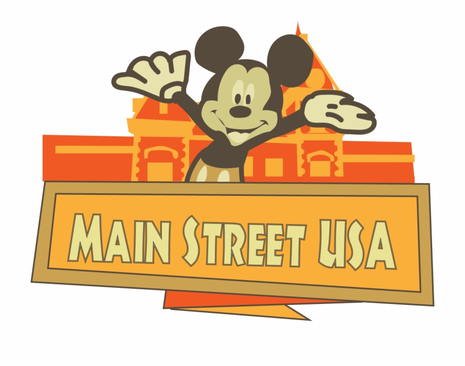 Happiest place on earth clipart svg Disneyland Clipart Log - Main Street Usa Disneyland Clipart Free PNG ... svg
