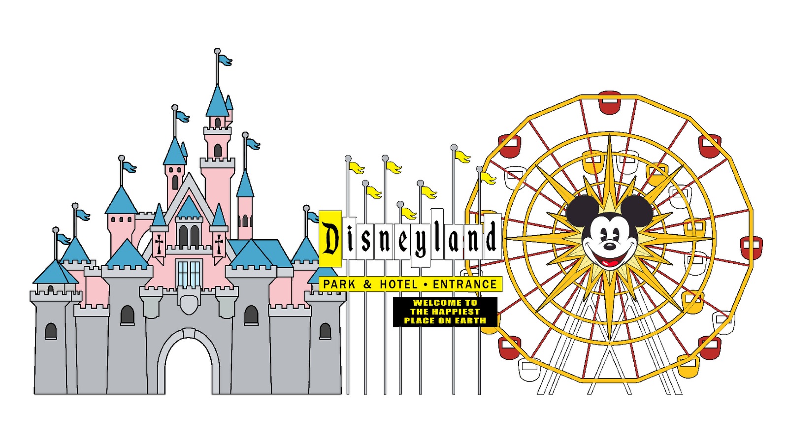 Happiest place on earth clipart clipart stock Sleeping Beauty Castle Disneyland Park Cinderella Castle Drawing ... clipart stock