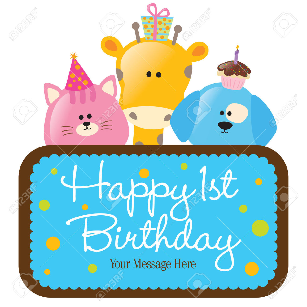 Happy 1st birthday svg free stock 68+ Happy 1st Birthday: Images, Grandson, Quotes, Wishes And ... svg free stock