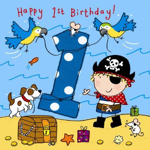 Happy 1st birthday svg library library 1 Happy 1st Birthday Pirate Birthday Card - £2.40 - A great range ... svg library library