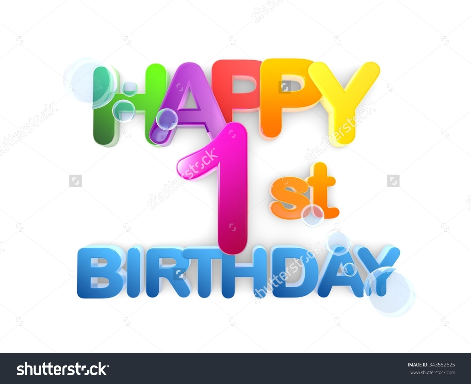 Happy 1st birthday image freeuse download Happy 1st Birthday Title Big Letters Stock Illustration 343552625 ... image freeuse download