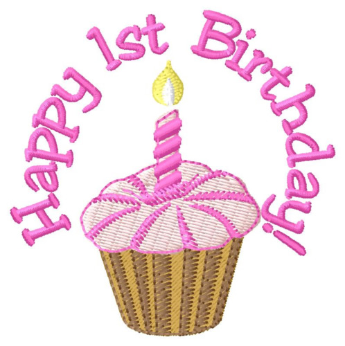 Happy 1st birthday jpg free Foods(Grand Slam Designs) Embroidery Design: Happy 1st Birthday ... jpg free