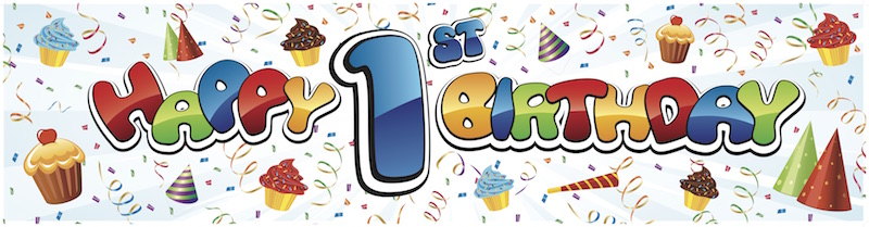 Happy 1st birthday png transparent library Products - Partymoods png transparent library