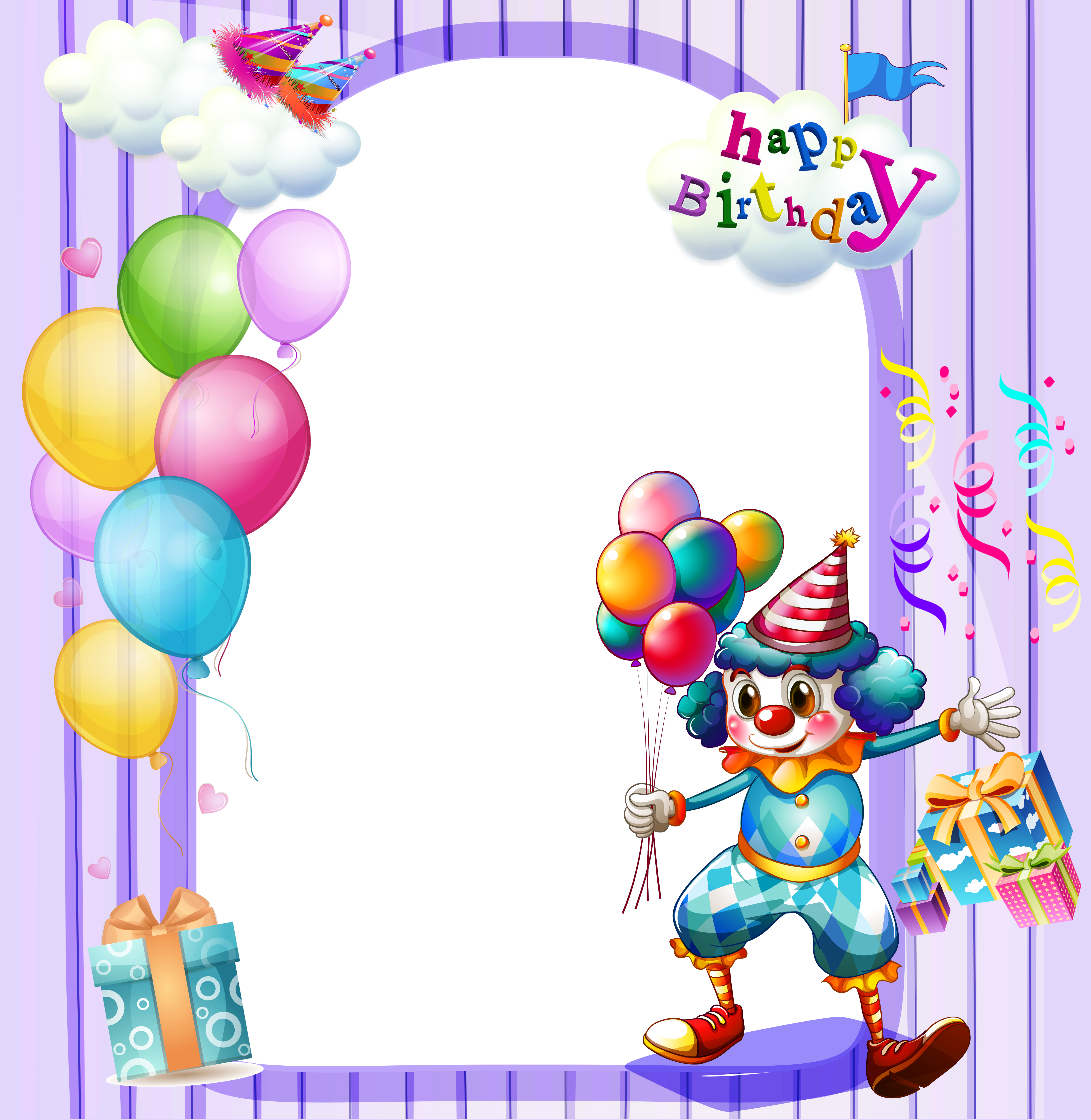Happy 1st birthday clipart clip art freeuse stock Happy Birthday Large Transparent Frame | Gallery Yopriceville ... clip art freeuse stock