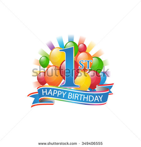 Happy 1st birthday clipart graphic royalty free stock 1st Birthday Stock Images, Royalty-Free Images & Vectors ... graphic royalty free stock
