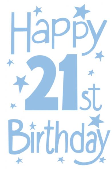 Happy 21st clipart clipart black and white Free Happy 21st Birthday Graphics, Download Free Clip Art, Free Clip ... clipart black and white