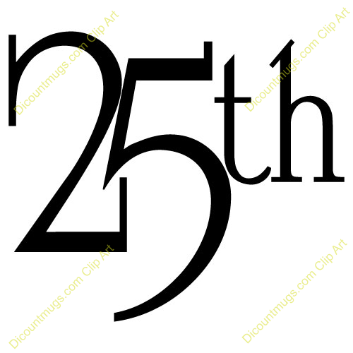 Happy 25th anniversary clipart png free library 25 Anniversary Clipart - Clipart Kid png free library