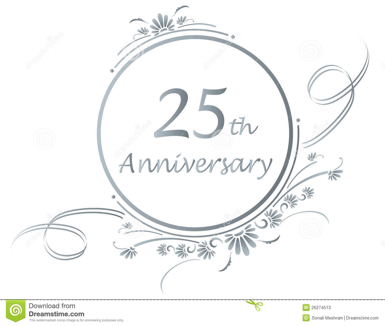 Happy 25th anniversary clipart picture transparent Silver Anniversary Clipart - Clipart Kid picture transparent