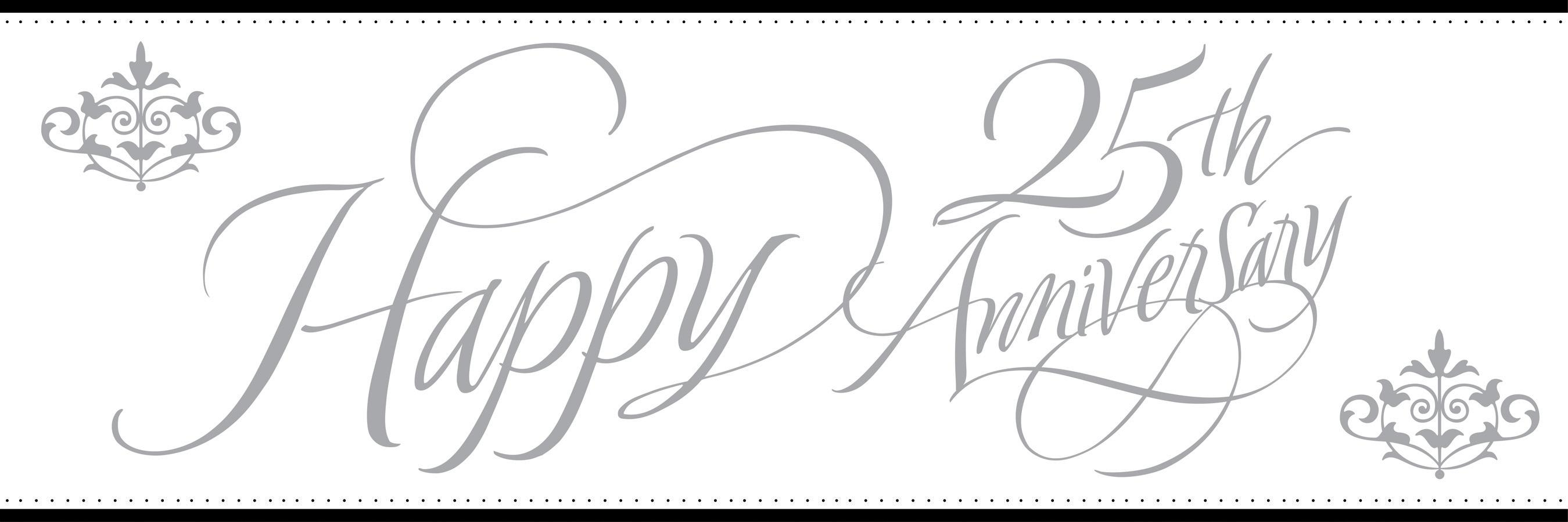 Happy 25th anniversary clipart picture royalty free Silver wedding anniversary clipart - ClipartFest picture royalty free