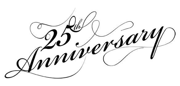 Happy 25th anniversary clipart clipart black and white download 25 Anniversary Clipart - Clipart Kid clipart black and white download