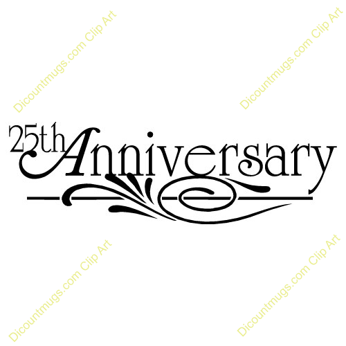 Happy 25th anniversary clipart image transparent 25 Anniversary Clipart - Clipart Kid image transparent