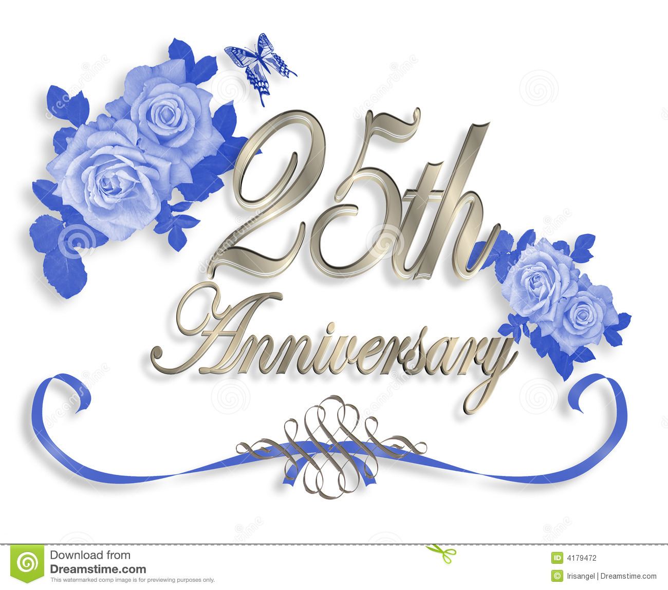Happy 25th anniversary clipart picture library download 25th wedding anniversary clip art - ClipartFest picture library download