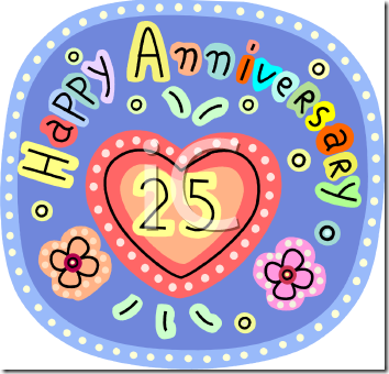 Happy 25th anniversary clipart banner transparent library Happy 25th anniversary clipart - ClipartFest banner transparent library