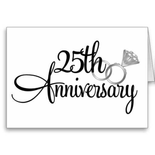 Happy 25th anniversary clipart clip black and white library 25 Anniversary Clipart - Clipart Kid clip black and white library