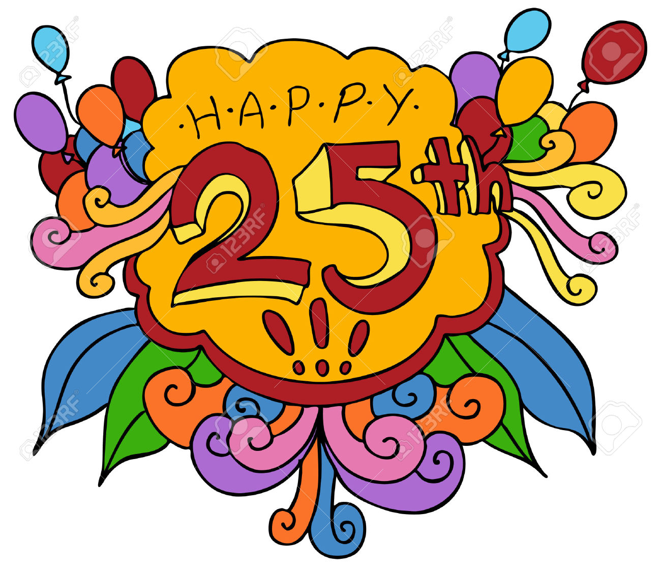 Happy 25th anniversary clipart svg library download Happy 25th anniversary clipart - ClipartFest svg library download