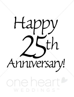 Happy 25th anniversary clipart black and white 25th Anniversary Clip Art & 25th Anniversary Clip Art Clip Art ... black and white