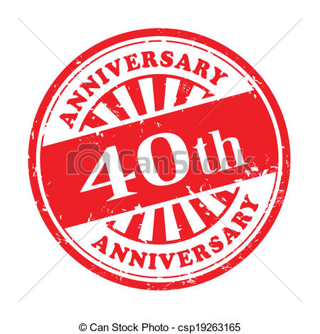 Happy 40th anniversary clipart image transparent download Clip Art Vector of 40th anniversary grunge rubber stamp ... image transparent download