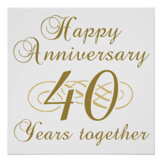 Happy 40th anniversary clipart clip freeuse library 40th Work Anniversary Clipart - Clipart Kid clip freeuse library