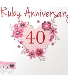Happy 40th anniversary clipart picture freeuse Wedding Anniversary Cards !!! | Wedding Anniversary Cards ... picture freeuse