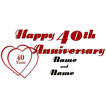 Happy 40th anniversary clipart clipart black and white download 40th Anniversary Clipart - Clipart Kid clipart black and white download