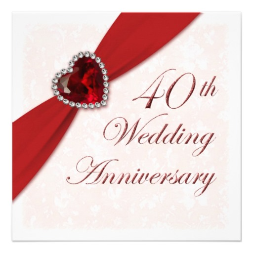Happy 40th anniversary clipart png royalty free stock Ruby wedding anniversary clipart - ClipartFest png royalty free stock