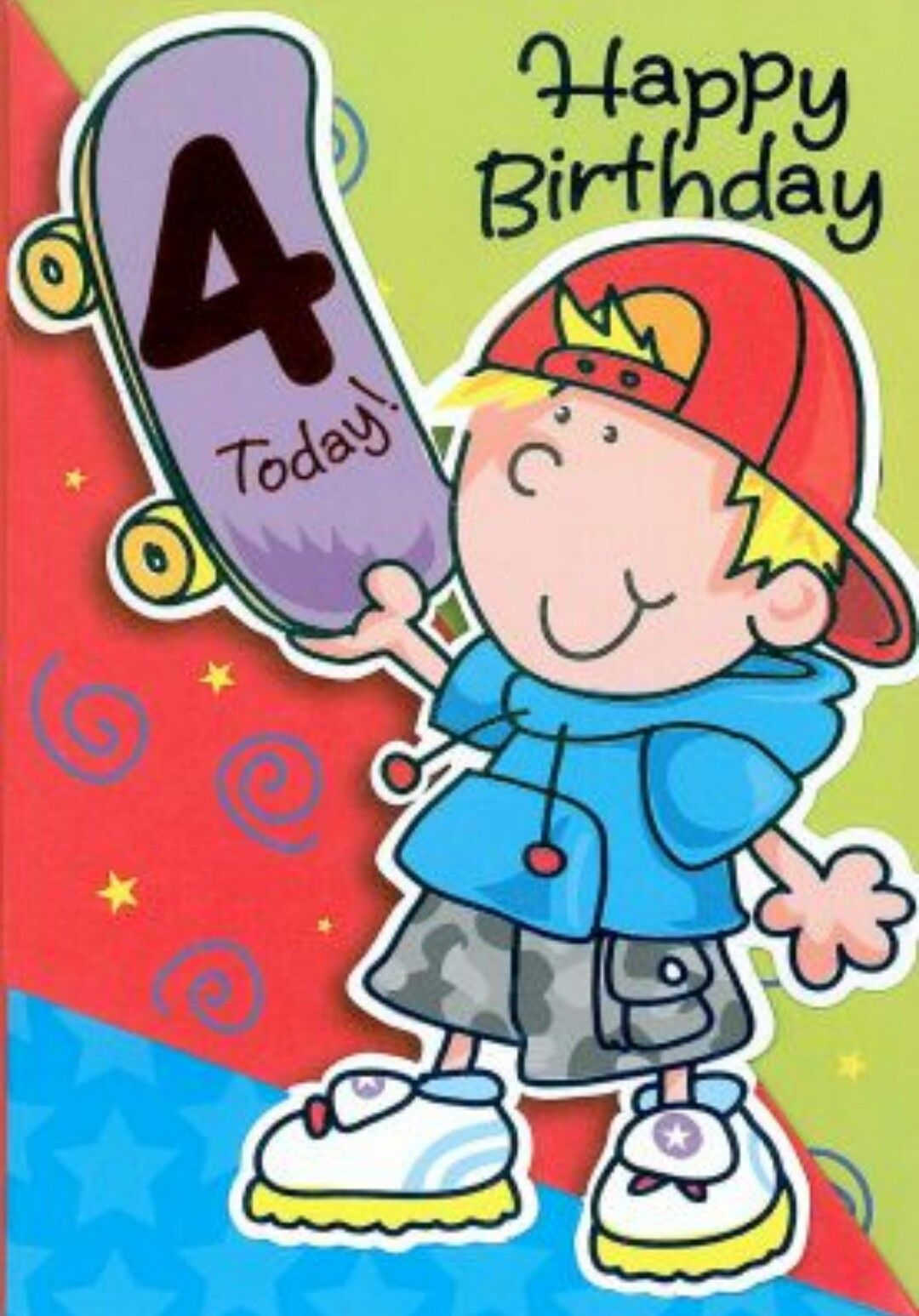 Happy 4th birthday clipart