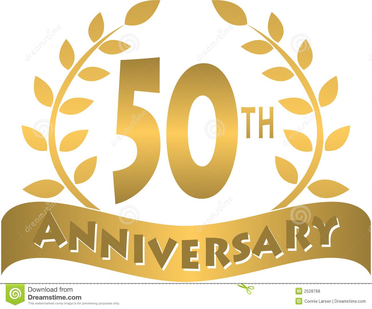 Happy 50th anniversary clipart clip download 50th wedding anniversary clipart - ClipartFest clip download