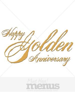 Happy 50th anniversary clipart jpg freeuse Happy 50th Anniversary Clipart - Clipart Kid jpg freeuse