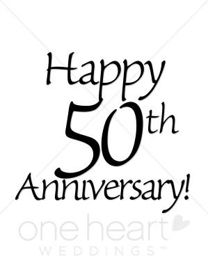 Happy 50th anniversary clipart jpg library download Happy 50th Anniversary Clipart | Wedding Anniversary Clipart jpg library download