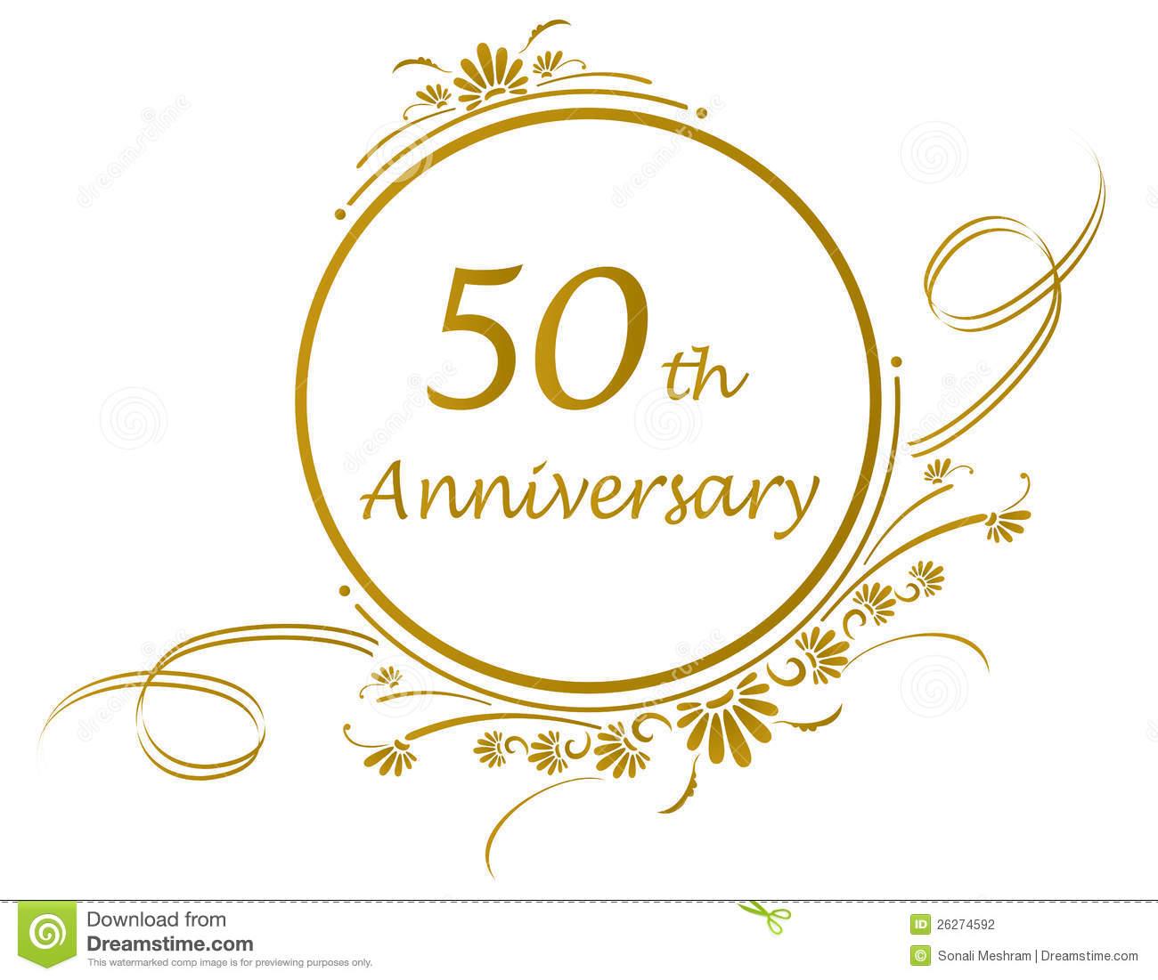 Happy 50th anniversary clipart jpg stock 50th Anniversary Clipart - Clipart Kid jpg stock