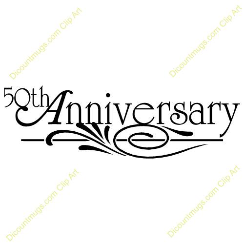 Happy 50th anniversary clipart clip art black and white 50th Anniversary Clipart - Clipart Kid clip art black and white