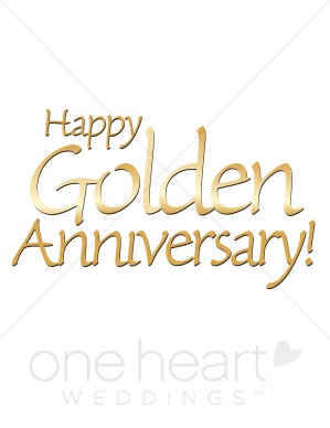 Happy 50th anniversary clipart jpg library download Golden Wedding Anniversary Clipart - Clipart Kid jpg library download