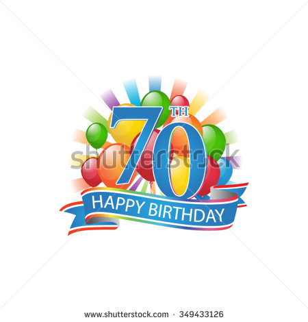 Happy 70th birthday clip art image black and white download Free clipart 70th birthday - ClipartFest image black and white download