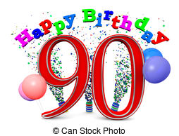 Happy 90th birthday free clipart svg royalty free library 90th Stock Illustrations. 560 90th clip art images and royalty free ... svg royalty free library
