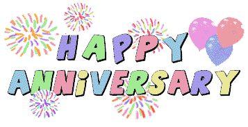 Happy anniversary cartoon clipart
