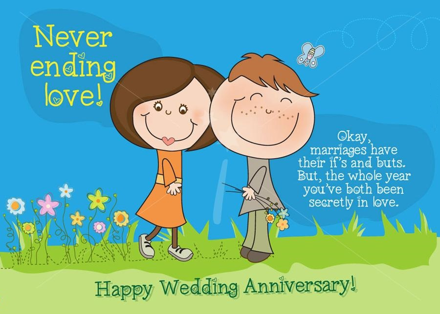 Happy anniversary cartoon clipart graphic royalty free stock Funny Wedding Anniversary Clipart - Clipart Kid graphic royalty free stock