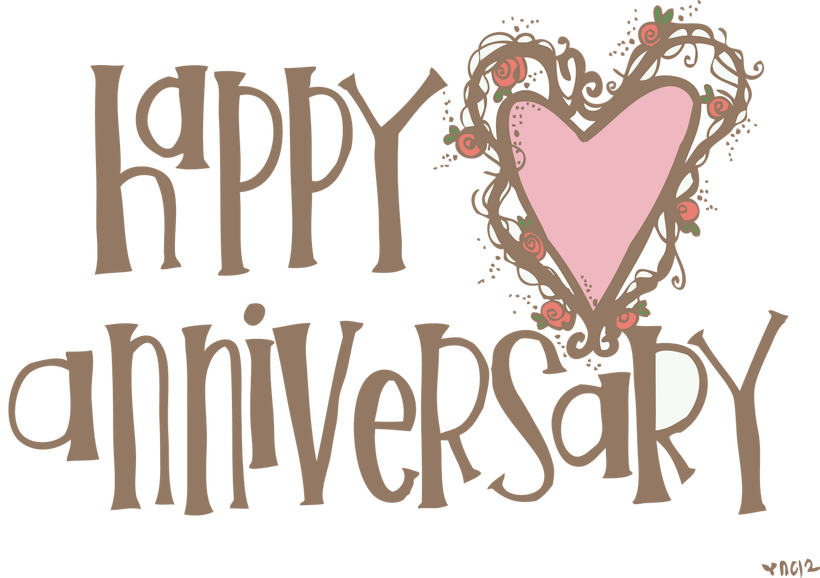 Happy anniversary funny clipart vector freeuse library Clipart Of Wedding Anniversary | deweddingjpg.com vector freeuse library
