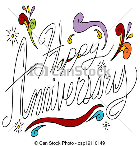 Happy anniversary cute clipart transparent stock Anniversary Illustrations and Clip Art. 174,803 Anniversary ... transparent stock
