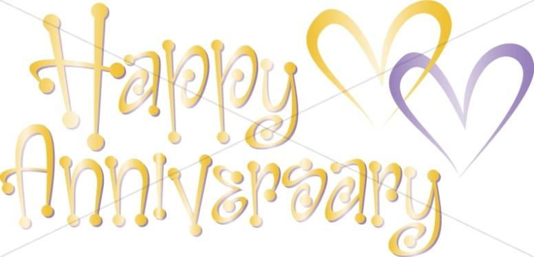Happy anniversary cute clipart image transparent download Cute Happy Anniversary Wordart with Hearts | Christian Anniversary ... image transparent download