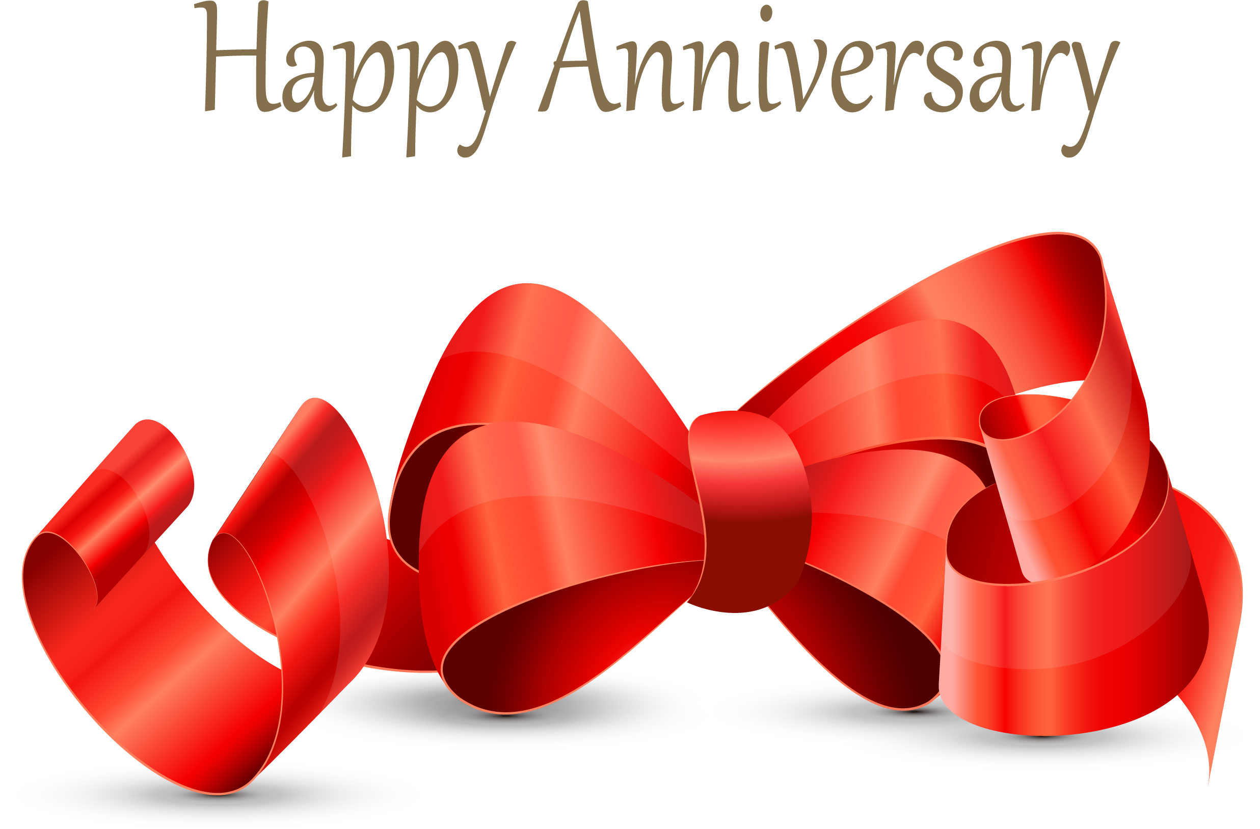 Happy anniversary facebook clipart picture black and white library Wedding anniversary Birthday - Red ribbon bow anniversary creative ... picture black and white library