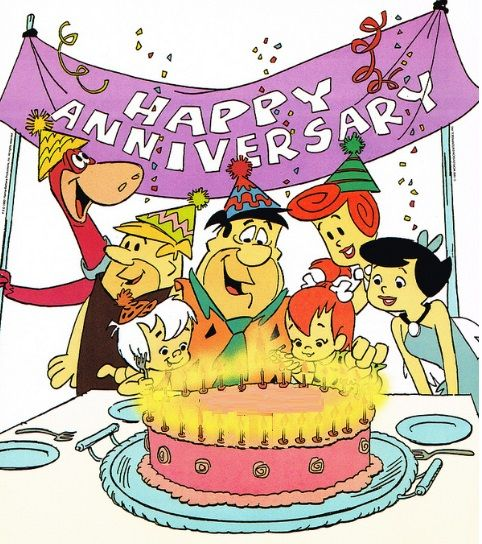 Happy anniversary funny clipart clipart free download Flintstones Happy Anniversary card cover | Clip Art Holiday ... clipart free download