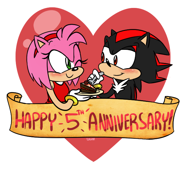 Happy anniversary funny clipart png transparent download Sonic: Happy 5th Anniversary by SugarKills on DeviantArt png transparent download