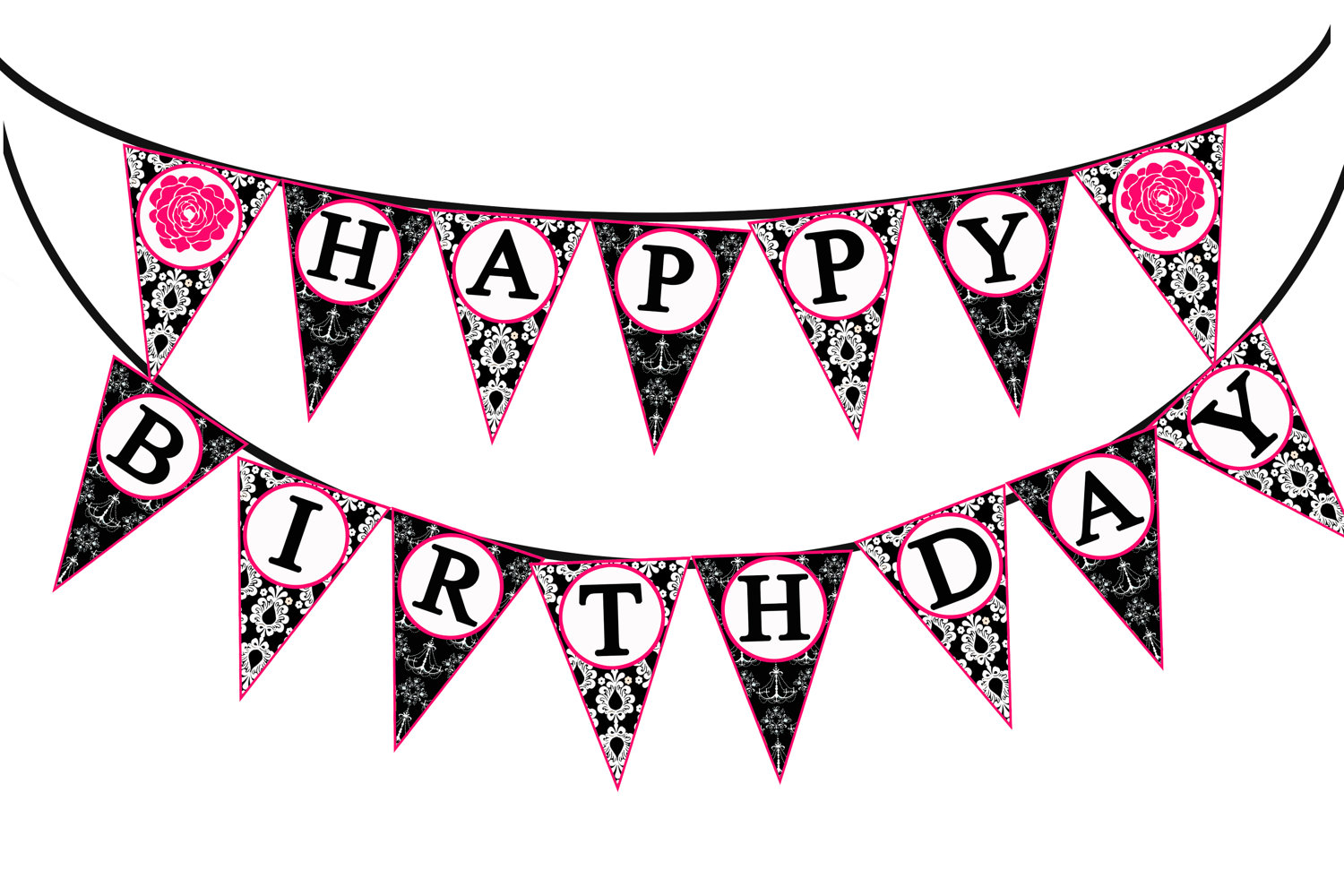 Happy birthday banner clipart black and white image free library Happy birthday birthday banner clipart free download clip art ... image free library