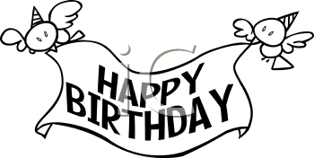 Happy birthday banner clipart black and white clip art freeuse download happy birthday banner drawings - Yahoo Image Search Results | Cookie ... clip art freeuse download