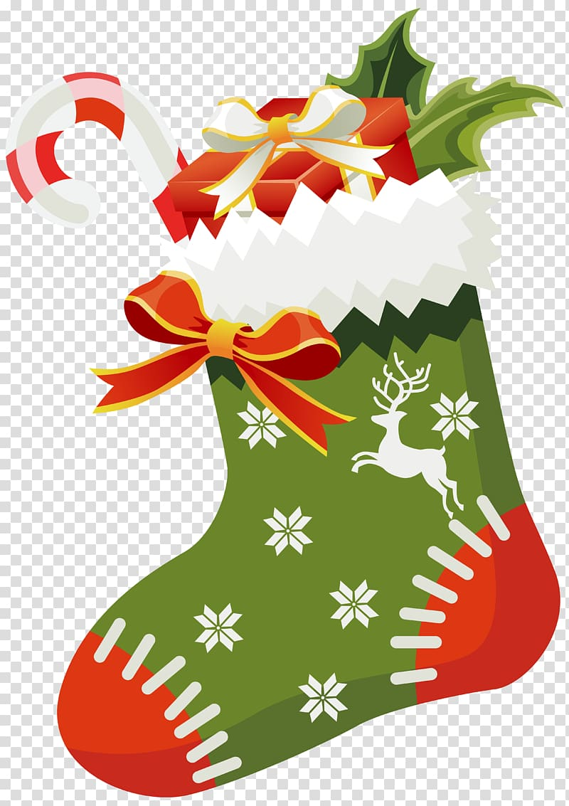 Happy birthday banner santa clause stockings clipart svg transparent download Green, white, and red Christmas sock illustration, Christmas ing ... svg transparent download