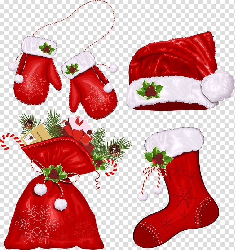 Happy birthday banner santa clause stockings clipart image free Red Christmas hat illustration, Santa Claus Christmas Symbol ... image free
