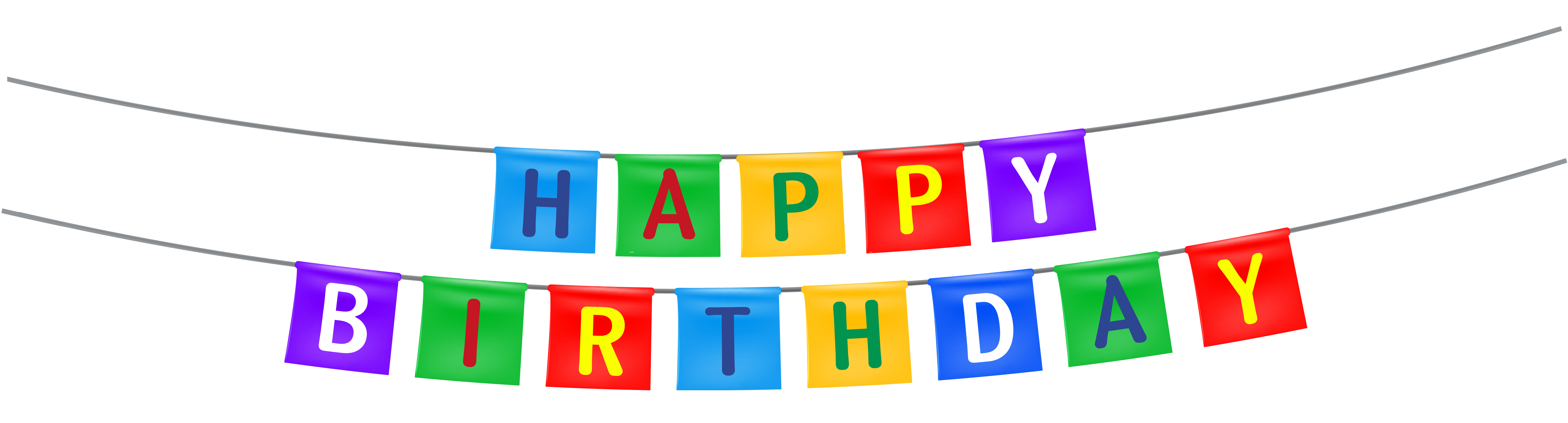 Transparent background happy birthday clipart image black and white library Birthday Banner Clipart | Free download best Birthday Banner Clipart ... image black and white library
