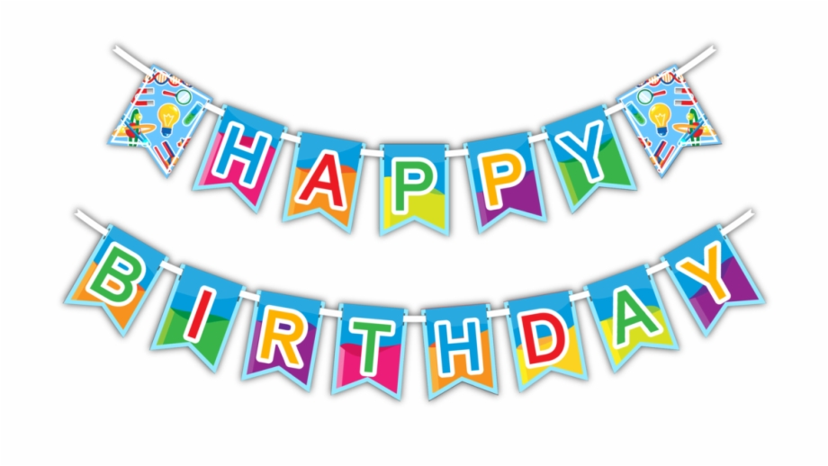 Happy birthday banners clipart png free stock Clip Black And White Party Banner Clipart - Happy Birthday Party ... png free stock